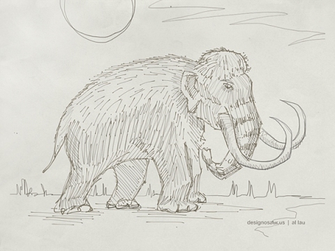 mammoth-sketch-by-al-lau