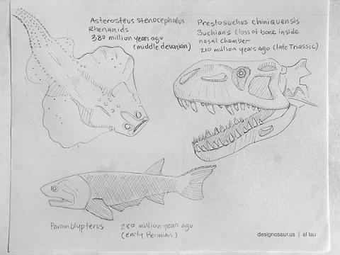 prehistoric sketch