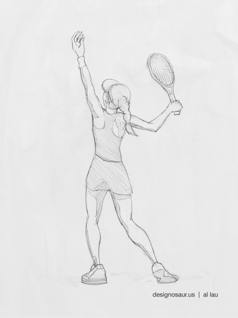 tennis_femaie_toss_serve_by_al_lau