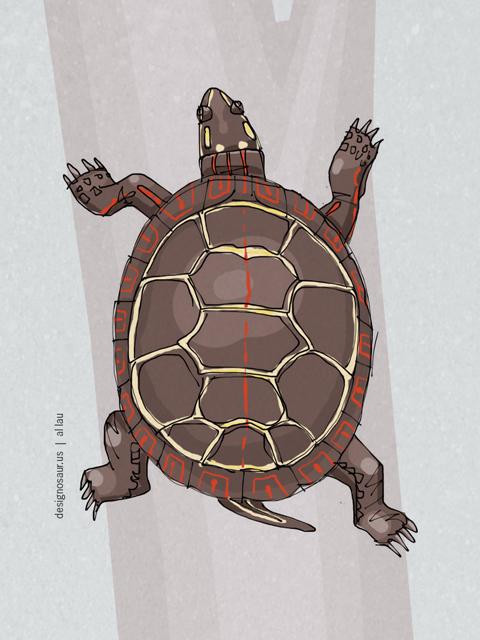 painted_turtle_by_al_lau
