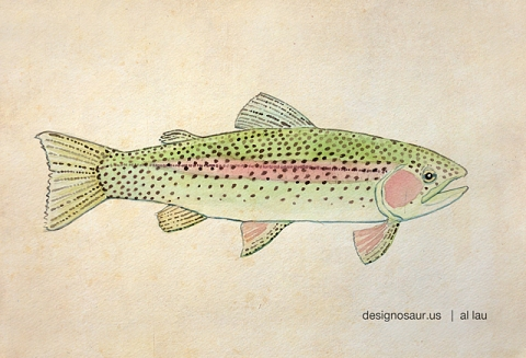 trout_watercolor_by_al_lau