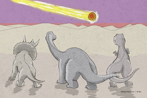 dinosaurs_and_meteor_by_al_lau