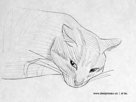 cat_resting_head_down_by_al_lau