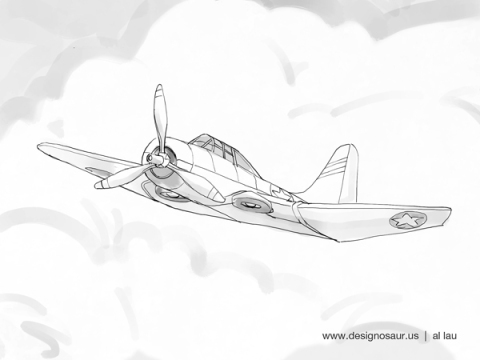 wwii_fighter_plane_by_al_lau