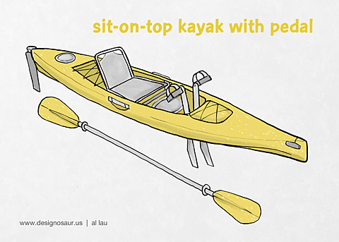 kayak_sit on top_pedal_by_al_lau