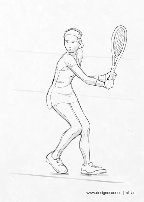 tennis_two_handed_by_al_lau