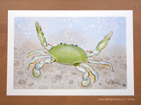 blue_crab_underwater_by_al_lau